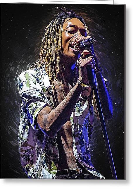Wiz Khalifa Greeting Card