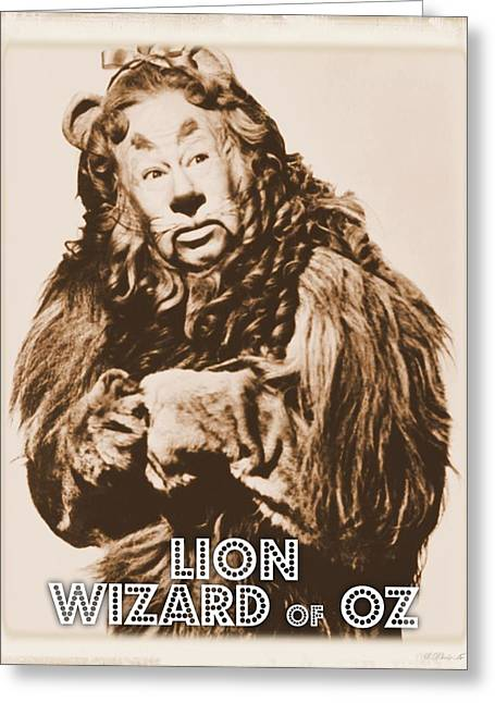 Wizard Of Oz Lion Greeting Card