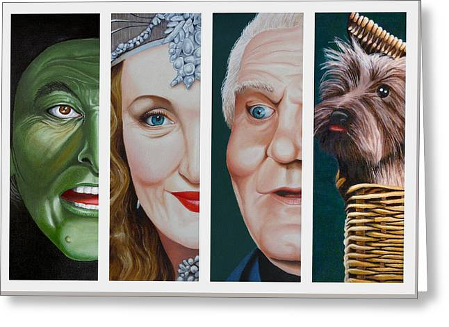 Wizard Of Oz Set Two Greeting Card by Vic Ritchey