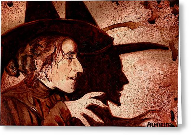 Wizard Of Oz Wicked Witch - Dry Blood Greeting Card by Ryan Almighty
