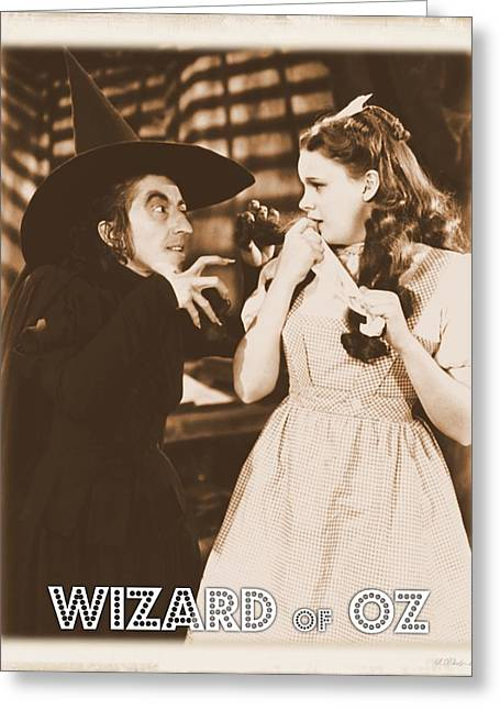 Wizard Of Oz Wicked Witch Greeting Card