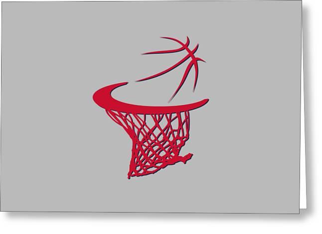 Wizards Basketball Hoop Greeting Card by Joe Hamilton