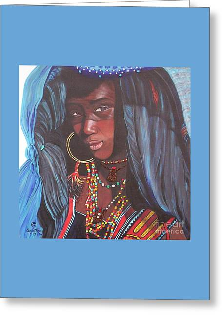 Blue Cat Productions             Wodaabe Girl Greeting Card