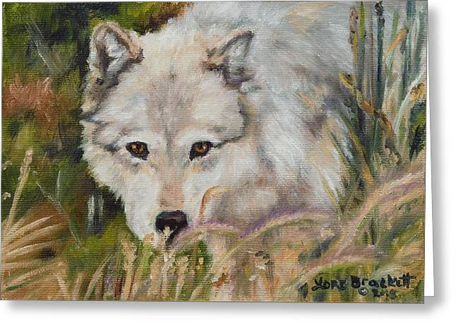 Wolf Among Foxtails Greeting Card