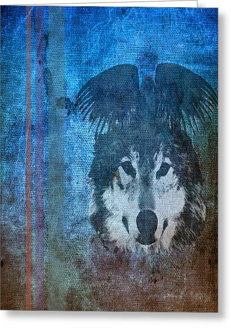 Wolf And Raven Greeting Card