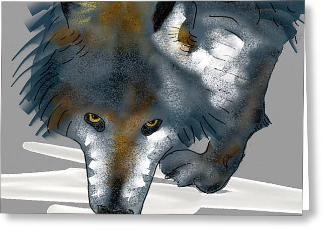 Wolf. Greeting Card