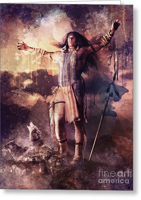 Wolf Clan Warrior Greeting Card