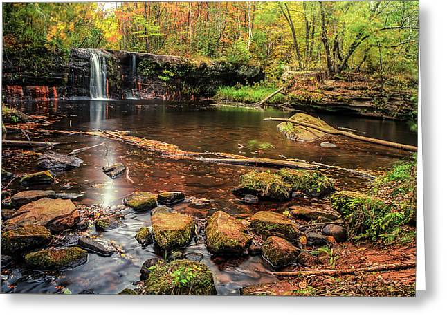 Wolf Creek Falls Greeting Card by RC Pics