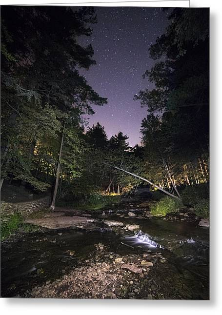 Wolf Creek Starry Night Greeting Card by Mark Papke