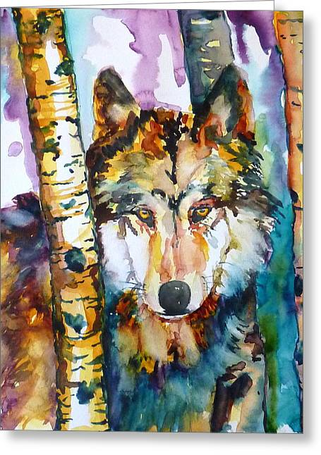Wolf In Aspen Greeting Card