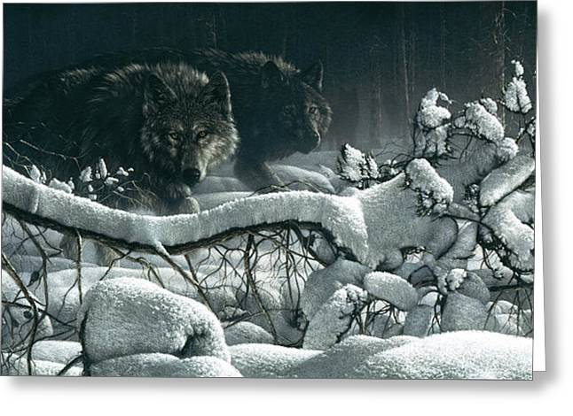 Wolf Pack - Snow Pack Greeting Card