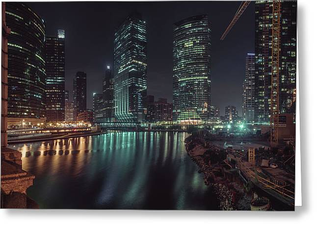 Wolf Point Night Greeting Card