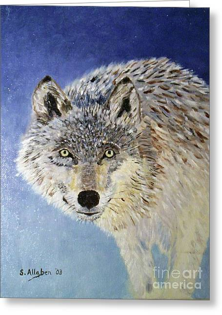 Wolf Study Greeting Card