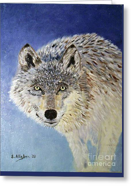 Wolf Study Greeting Card