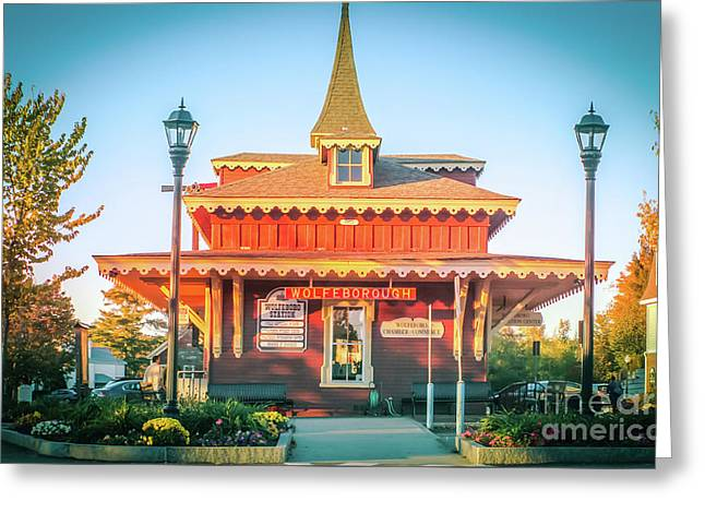Wolfeboro Station In October Greeting Card
