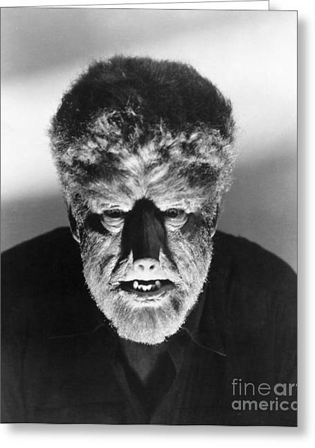 Wolfman Greeting Cards - Wolfman, 1941 Greeting Card by Granger