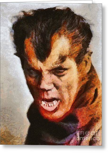 Wolfman In London, 1935, Vintage Horror Greeting Card by Mary Bassett