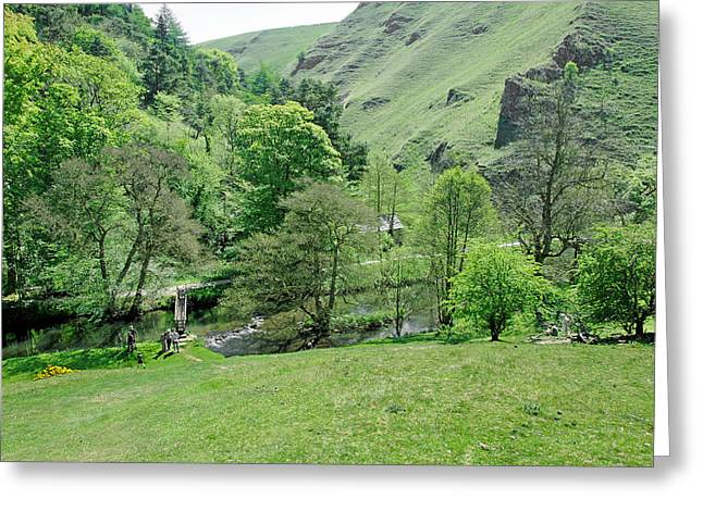 Hills Greeting Cards - Wolfscote Dale by Coldeaton Bridge Greeting Card by Rod Johnson