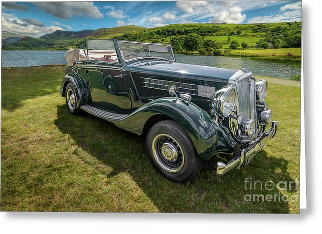 Wolseley Classic Car Greeting Card by Adrian Evans