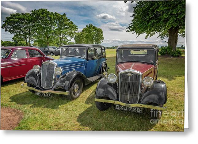 Greeting Card featuring the photograph Wolseley Motors by Adrian Evans