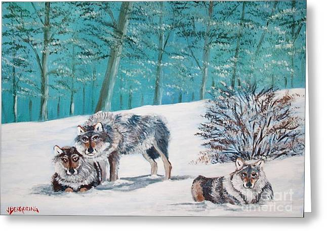 Wolves In The Wild Greeting Card