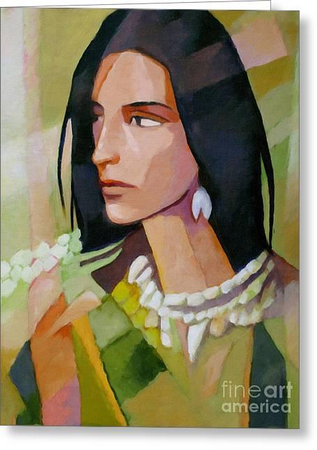 Woman 2006 Greeting Card by Lutz Baar