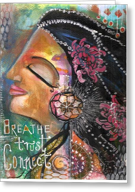 Woman Art Greeting Card