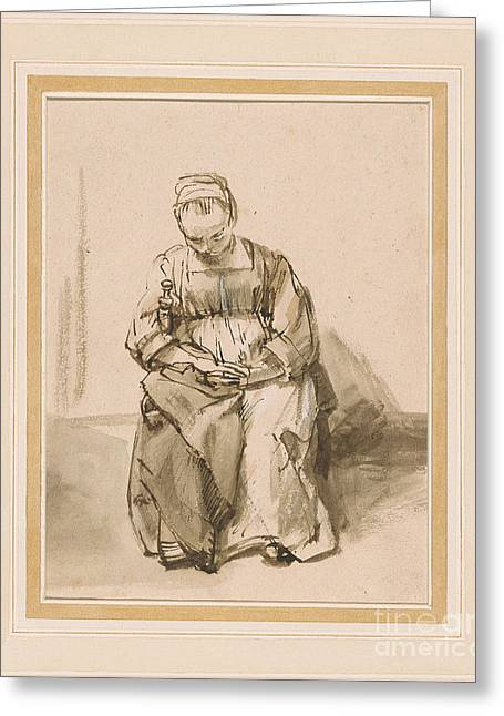 Woman Asleep In A Chair Greeting Card