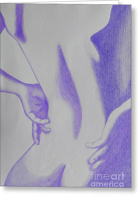 Woman Back Purple Greeting Card