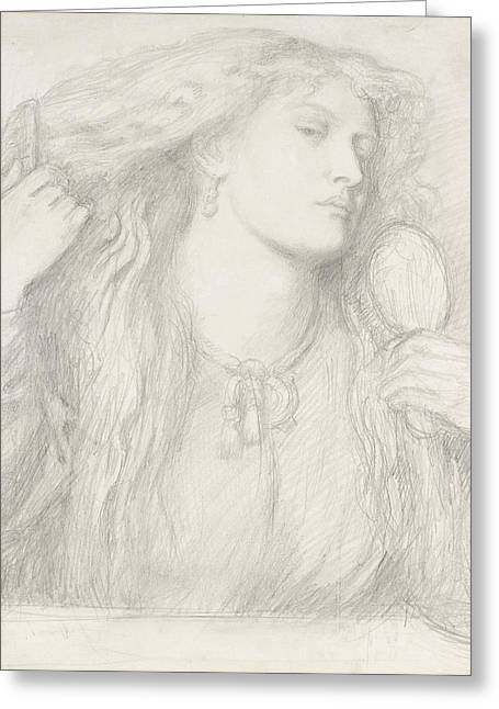 Woman Combing Her Hair, Fanny Cornforth Greeting Card