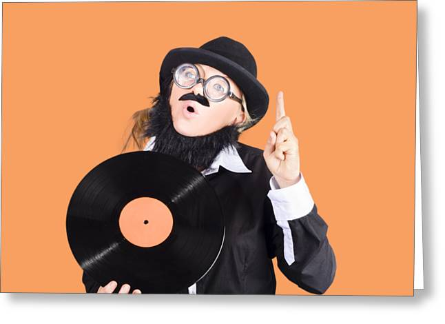 Woman Disc Jockey Greeting Card by Jorgo Photography - Wall Art Gallery