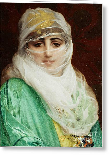 Woman From Constantinople Greeting Card by Jean Leon Gerome
