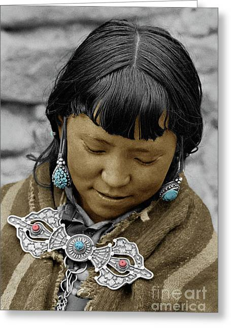 Woman From Dolpo - Do Tarap Valley, Nepal Greeting Card by Craig Lovell