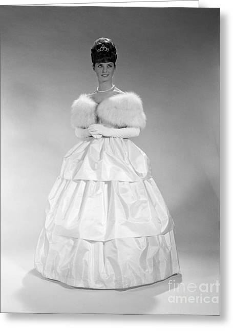 Woman In Ball Gown, C. 1960s Greeting Card