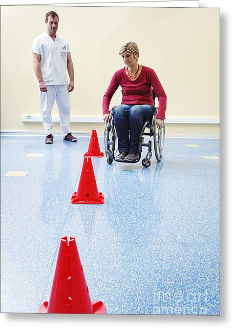Woman In Physical Rehabilitation Greeting Card