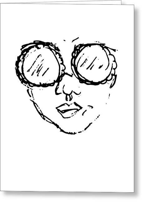 Woman In Sunglasses Greeting Card