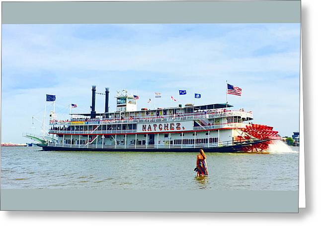 Woman Meets Natchez Greeting Card