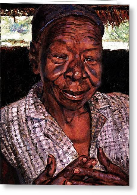 Woman Of Faith Greeting Card