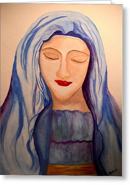 Woman Of Faith Greeting Card by Maria Urso