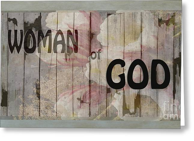 Woman Of God Greeting Card by Beverly Guilliams