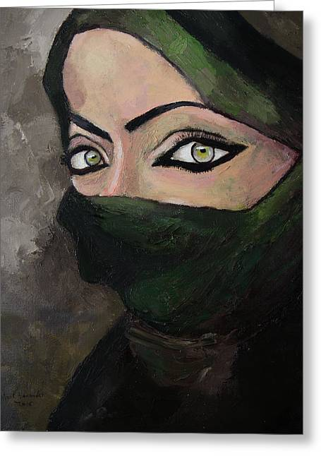 Woman Of The Gulf Greeting Card by Mark Alexander