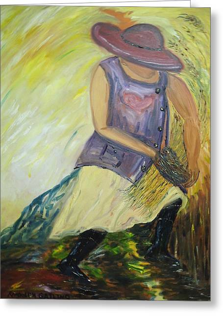 Woman Of Wheat Greeting Card