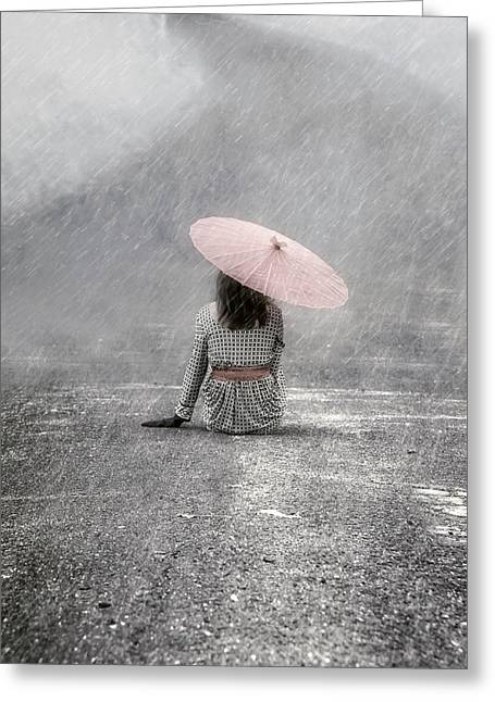 Sat Photographs Greeting Cards - Woman On The Street Greeting Card by Joana Kruse