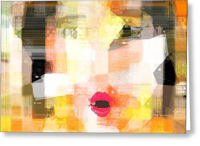 Woman Reduced To A Child Greeting Card by Fania Simon