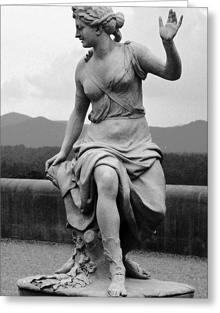 Greeting Card featuring the sculpture Woman Sculpture Nc by Eric  Schiabor