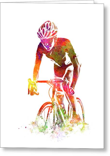 Woman Triathlon Cycling 04 Greeting Card