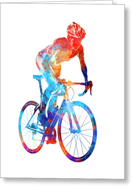 Woman Triathlon Cycling 06 Greeting Card by Pablo Romero
