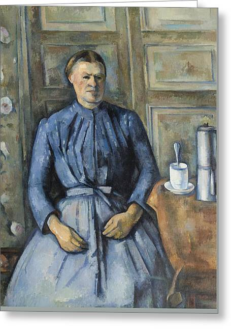 Woman With A Coffeepot  Greeting Card by Paul Cezanne