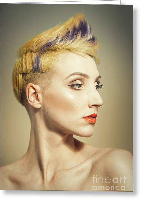 Edgy greeting cards page 3 of 111 fine art america woman with an edgy hairstyle greeting card m4hsunfo Images