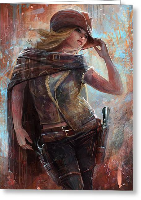 Woman With No Name Greeting Card by Steve Goad